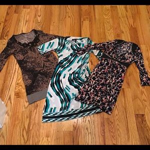 2 BCBGMAXAZRIA Form Fitting Print Dresses XS/S